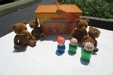 Vintage Fisher Price 1974 Teddy Bear Picnic Basket #677