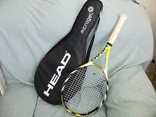 very good, used HEAD Microgel Extreme MidPlus  tennis racquet w/ original cover