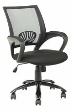NEW Mid Back Mesh Ergonomic Computer Desk Office Chair Black 111
