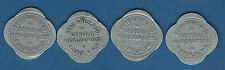 Wishek North Dakota - Herr Bros & Co - set of 4 different tokens
