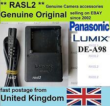 Original Panasonic LUMIX charger DE-A98 DMC-LX100 DMC-GX7 DMC- GF5 GF3 DMC-GF6