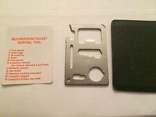 Multi-Purpose 11-in-1 Stainless Steel Pocket Survival Tool Wallet Ninja style