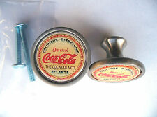 Coca-Cola Soda Cabinet Knobs, Coca Cola Logo Cabinet Knobs , Coke Logo Knobs