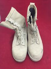 BATES VIBRAM Gore-Tex Tan Suede Army Combat Boots 9.5W Good Condition See Desc.