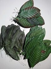 Vintage latex leaves - silk flower arrangements. Crafts.