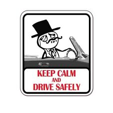 "Keep Calm And Drive Safely car bumper sticker decal 5"" x 4"""