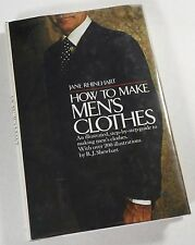 RARE 1975 1st How to Make Men's Clothes Jane Rhinehart HC/DJ Suiting Tailoring