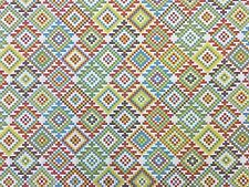 KILIM TAPESTRY MULTI H6 GEOMETRIC REVERSIBLE CURTAIN LIGHT UPHOLSTERY FABRIC
