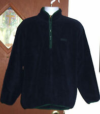 IZOD Fleece Sweater Half Zip Men Sz M Navy