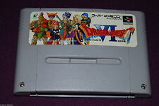 DRAGON QUEST VI 6 - Enix - Jeu RPG Super Famicom Nintendo SNES JAP