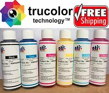 Sublimation Ink 6 Color Bottles for Epson WF-7610 Artisan 1430 CISS USA