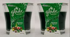 2 Jars Glade SPARKLING SPRUCE Scented Candles 3.8 oz