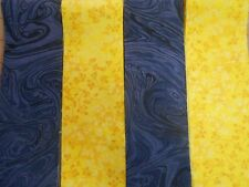 JELLY ROLL BLUE AND YELLOW  20  FABRIC STRIPS  2.5 X 44