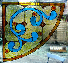 WICOART WINDOW COLOR STICKER CLING FAUX STAINED GLASS CORNER ART DECO 20X20