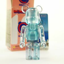 "Medicom Bearbrick 100% Be@rbrick 3"" Series 19 Jellybean Clear Blue kidrobot art"