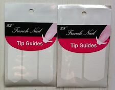 2 paquets soit 76 stickers 2 formes + 3 formes guide kit french manucure ongles