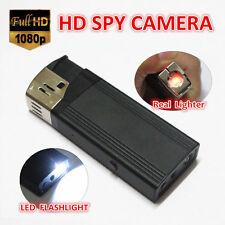 HD 1080P Real Lighter SPY Hidden Pinhole USB Camera Recorder Mini DVR Flashlight