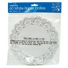 "60 x 9.5"" Paper Party Doilies Doily Lace Doyleys Catering Wedding Coasters Round"