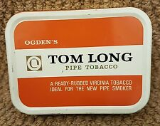 VINTAGE ESTATE PIPE TOBACCO TIN BY TOM LONG (empty) (e4)