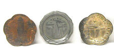 3 Vintage Antique Metal Souvenir Ash Coin Trays Chicago New York Woolworth Sears