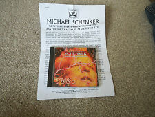 Michael Schenker - MS 2000: Dreams And Expressions CD + Press & Biography Sheets