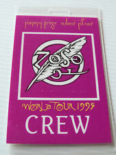 Jimmy Page Robert Plant Laminated CREW Backstage Pass World Tour 1995