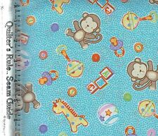 Baby Talk 100-2511 Stuffed Toys by Fabri-Quilt  100% Cotton Fabric by the 1/2 yd