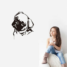 Pug Dog Wall Sticker Puppy Home Decor Vinyl Removable Kid Room Wall Decal Mural
