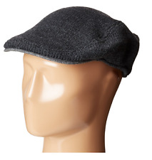 $95 TOMMY HILFIGER MEN'S GRAY KNITTED CASUAL ACRYLIC WINTER SHORT BRIM HAT CAPS