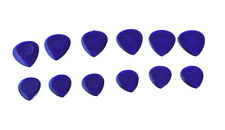 12 STUBBY 3mm GUITAR PICKS / PLECTRUMS acoustic bass electric gauge small large