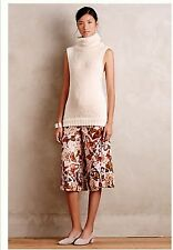 Anthropologie Nwt Mariposa Silk Culottes 0 Could Fit 2 Sold Out! $249
