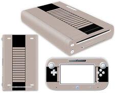 Nintendo Wii U Skin Design Foils Aufkleber Schutzfolie Set - Retro NES Motiv