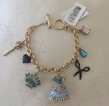 NEW Betsey Johnson Princess Charming Toggle Bracelet Dress Spool Thread Scissors