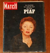 PARIS MATCH magazine #1063 1969 Edith Piaf Jackie Kennedy Liz Taylor