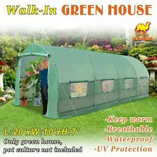 20x10x7 Hot Green House Larger Walk In Outdoor Plant Gardening Greenhouse