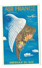 AIR FRANCE carte postale publicitaire Amérique du Sud Lucien Boucher