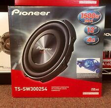 "Pioneer TSSW3002S4 1500W 12"" TS Series Shallow Mount Single 4 ohm Subwoofer NEW"
