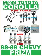 1998-99 COROLLA PRIZM TUNE UP KITS: SPARK PLUGS, WIRE SET & ENGINE FILTERS