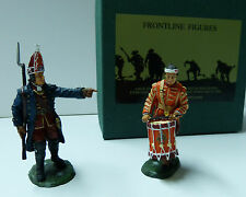 Frontline Figures, French Indian Wars, Offizier/Trommler, Maßstab 1/32, IBG3