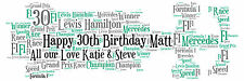 Personalised F1 Racing Car Word Art Print Birthday Gift or any Occasion