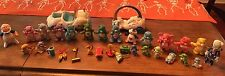 Vintage Lot of Early 1980's Care Bears Poseable PVC Figures Plus Cloud Cars etc.