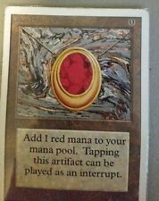 Mox Ruby - Unlimited - MTG Magic - Artifact -MP - Power 9 card! USA Seller