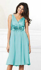 BNWOT sz 12 Teatro Aqua rose corsage dress.