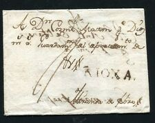 1787 SPAIN PREPHILATELIC COVER LOGRONO TO MIRANDA DE EBRO