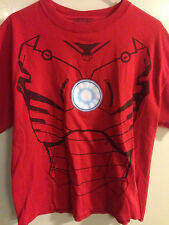 Marvel The Avengers Iron Man Chest Torso Armor Costume T Shirt L