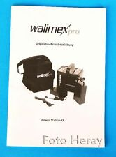 Walimex Pro Power Station FX originale Anleitung deutsch & english 03633