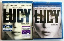 NEW SEALED LUCY BLU RAY DVD + RARE OOP BEST BUY EXCLUSIVE LENTICULAR SLIPCOVER