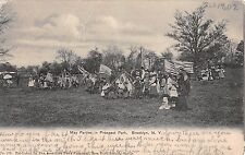 1907 May Parties in Prospect Park Brooklyn NY post card