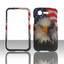 Bird On USA Flag Hard Phone Case Cover For Straight Talk LG Optimus Fuel L34C