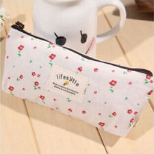 Cute Vintage Flower Floral Pencil Pen Cosmetic Makeup Storage Bag Case Purse